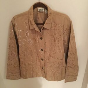 Chico's embroidered  jacket.                L